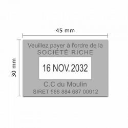Tampon dateur Colop Classic Line 2360 - 3 lignes max. - 45x30 mm