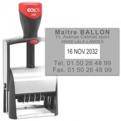 Tampon dateur Colop Classic Line 2660 - 5 lignes max. - 58x37 mm