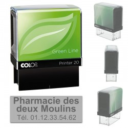 Tampon Colop Printer Green Line 20 - 3 lignes max. - 38x14 mm