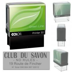 Tampon Colop Printer Green Line 30 - 4 lignes max. - 47x18 mm