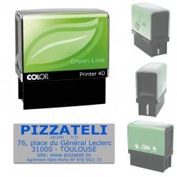 Tampon Colop Printer Green Line 40 - 6 lignes max. - 59x23 mm