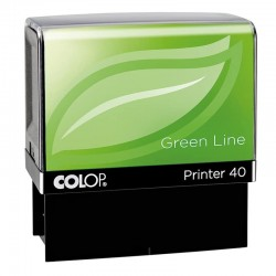 Tampon Colop Printer Green Line 40 - 6 lignes max. - 59x23 mm