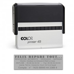 Tampon Colop Printer Line 45 - 6 lignes max. - 82x25 mm