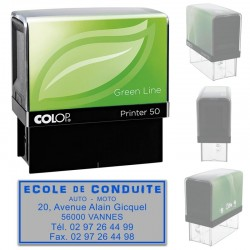 Tampon Colop Printer Green Line 50 - 6 lignes max. - 69x30 mm