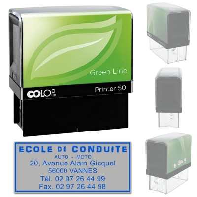 Tampon Colop Printer Green Line 50 - 6 lignes max. - 69x30 mm