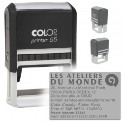 Tampon Colop Printer Line 55 - 10 lignes max. - 60x40 mm