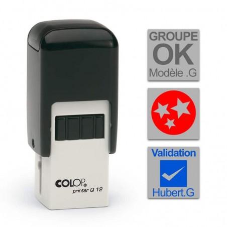 Tampon Colop Printer Line Q12 - 3 lignes max. - 12x12 mm