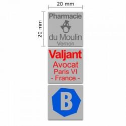 Tampon Colop Printer Line Q20 - 4 lignes max. - 20x20 mm