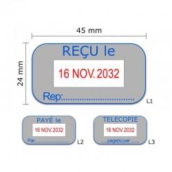 Tampon dateur Colop Office Green Line S260 - 2 lignes max. - 45x24 mm