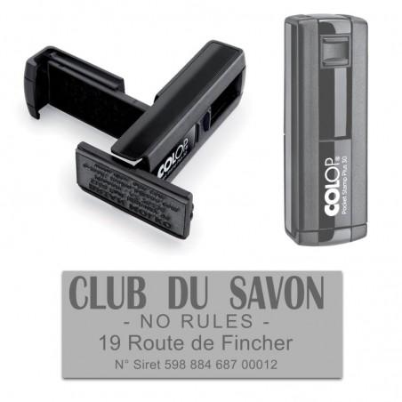 Tampon Colop Pocket Stamp 30 - 5 lignes max. - 47x18 mm