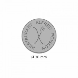 Tampon Colop Printer Line R30 - 5 lignes max. - Ø 30 mm