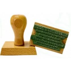 Tampon encreur bois personnalisé - 1 lignes
