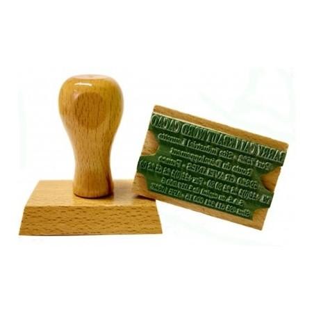 Tampon encreur bois personnalisé - 5 lignes