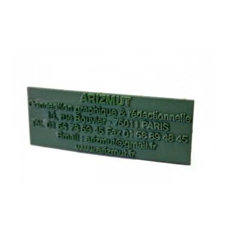 Plaque de remplacement en caoutchouc - 2 lignes