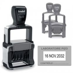 Tampon Dateur Trodat 5430 Metal Line 4.0 - 41X24 - Noir