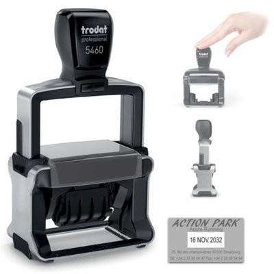 Tampon Dateur Trodat 5460 Metal Line 4.0 - 56X33 - Noir