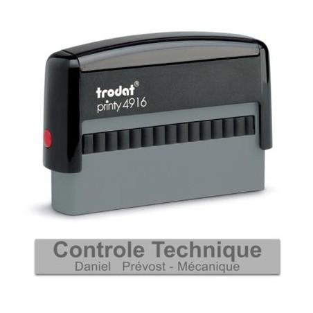 Tampon Texte Trodat 4916 2 Lignes Printy - 70X10 - Noir