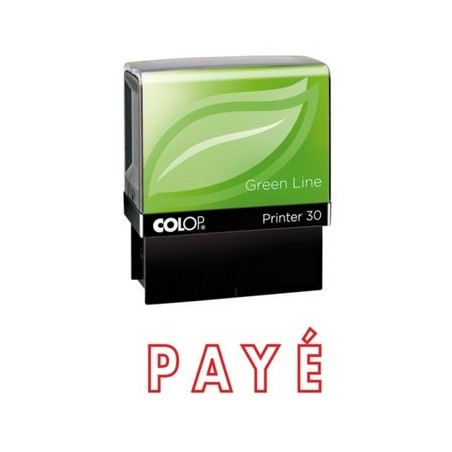 Tampon formule PAYE - Colop Printer 30 - 47 x 18 mm