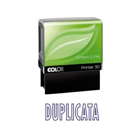 Tampon formule DUPLICATA - Colop Printer 30 - 47 x 18 mm