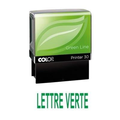 Tampon formule LETTRE VERTE - Colop Printer 30 - 47 x 18 mm