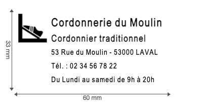 tampon logo cordonnier
