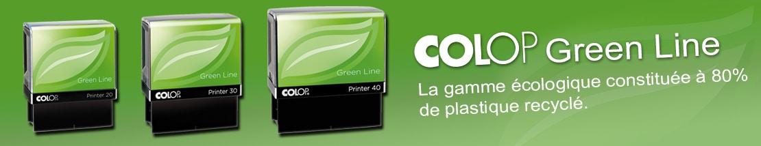 Colop Green Line, gamme écologique de tampons encreurs